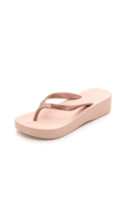Ipanema Tropical Wedge Flip Flops Rose Gold