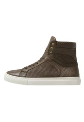 Boom Bap Karma Hightop Trainers Green Beige Oliv