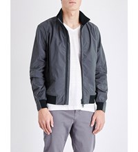 Orlebar Brown Maddox Shell Bomber Jacket Deepest Blue