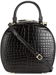 Simone Rocha Croc Effect Cross Body Bag Black
