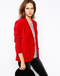 Zadig And Voltaire Blazer In Velvet Rouge