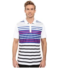 Puma Road Map Polo Bright White Beetroot Men's Short Sleeve Knit Multi
