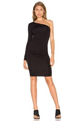 Twenty One Shoulder Bodycon Dress Black