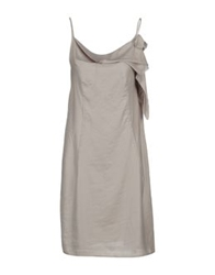 Brian Dales Short Dresses Light Grey