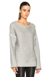 Helmut Lang Oversized Sweater In Gray