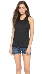 Zoe Karssen Loose Racer Back Tank Pirate Black