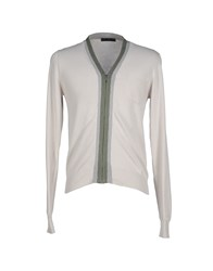 Jeordie's Knitwear Cardigans Men Light Grey