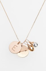Women's Nashelle Pyrite Initial And Arrow 14K Gold Fill Disc Necklace Gold Pyrite Silver Pyrite E