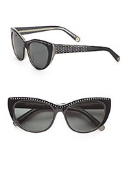 Rebecca Minkoff Stanton 55M Cat's Eye Sunglasses Black