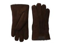 Ugg Casual Gloves W Debossed Leather Logo Chocolate Extreme Cold Weather Gloves Brown