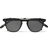 Garrett Leight California Optical Brooks Detachable Front Matte Acetate Sunglasses Black