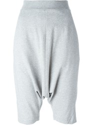 Y 3 Drop Crotch Shorts Grey