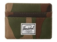 Herschel Charlie Woodland Camo Credit Card Wallet Multi