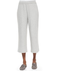 Joan Vass Cropped Cotton Interlock Pants