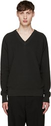 Christophe Lemaire Grey V Neck Sweater