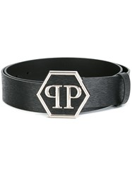 Philipp Plein Buckled Belt Black