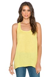 Three Dots Racerback Tank Green