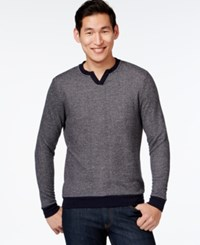 Vince Camuto Classic V Neck Pullover Sweater Navy