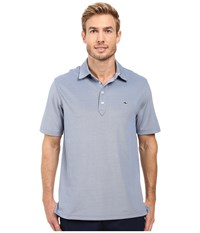 Vineyard Vines Marshall Solid Pique Polo Royal Ocean Men's Clothing Pink