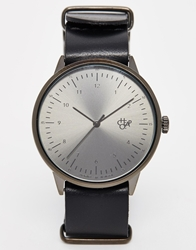 Cheapo Classic Leather Strap Watch Black