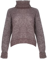 Alice And You Knitted Roll Neck Jumper Lilac