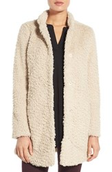 Kenneth Cole Women's New York Faux Fur Jacket Ivory