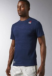 Reebok Crossfit Burnout Sports Shirt Collegiate Navy Dark Blue