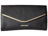 Love Moschino Evening Envelope Bag Black Evening Handbags