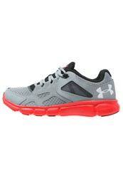 Under Armour Thrill Cushioned Running Shoes Steel Red White Grey