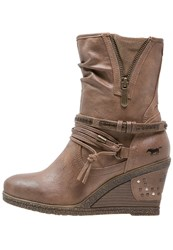 Mustang Wedge Boots Natur Taupe