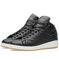 Alexander Mcqueen Stitch Detail High Top Sneaker Black