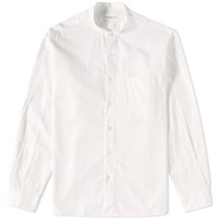 Tomorrowland Supima Band Collar Shirt White