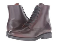 Frye Brayden Lace Up Dark Brown Smooth Pull Up Men's Boots
