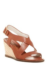 Bettye Muller Ponza Wedge Sandal Brown