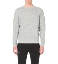 Allsaints Etrain Cotton Jersey Sweatshirt Grey Mouline