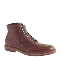 Alden For J.Crew Wing Tip Boots Brown Alpine