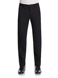 Versace Wool Blend Trousers Black