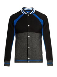 Givenchy Contrast Panel Wool Jacket Black