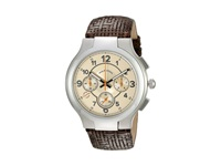 Philip Stein Teslar Chronograph Round Tan Dial On Chocolate Woven Calf