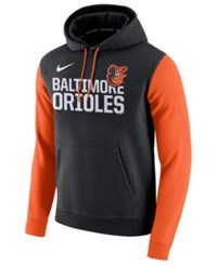 Nike Men's Baltimore Orioles Pullover Fleece Hoodie Black Orange