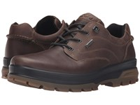 Ecco Rugged Track Gtx Tie Dark Clay Coffee Men's Walking Shoes Gray