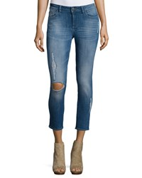 Dl Premium Denim Florence Distressed Skinny Cropped Jeans Punk Women's