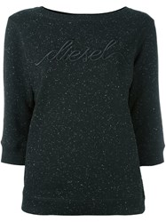 Diesel Embroidered Logo Sweatshirt Black