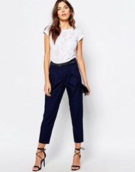 Sisley Carrot Turn Up Pants 13C Navy