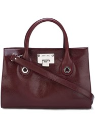 Jimmy Choo Medium 'Riley' Tote Red
