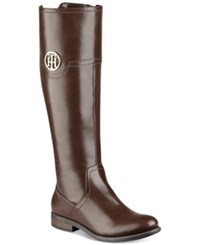 Tommy Hilfiger Silvana Riding Boots Women's Shoes Brown