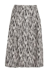 French Connection White Noise Pleated Full Skirt Black