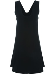 T By Alexander Wang A Line Sleeveless Dress Black
