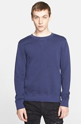 Men's Blk Dnm Crewneck Sweatshirt Royal Blue