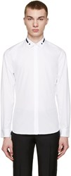 Givenchy White Stars And Stripes Collar Shirt